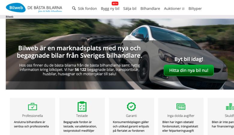 Pokupka avtomobilya v Shvetsii bilweb.se, tseny na russkom